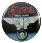 Saxon - 'Wheels of Steel' Button Badge
